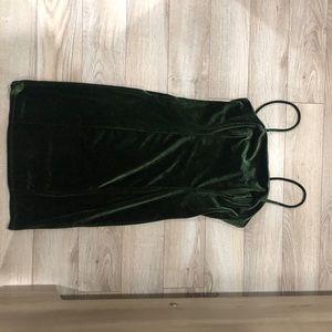 Forever 21 dark green velvet dress